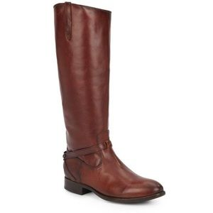 FRYE Lindsay Plate Redwood Riding Boots Sz 7.5 M